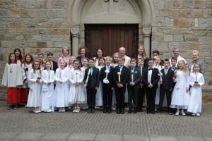 Erstkommunionkinder am Sonntag, den 17. Mai 2015 in Hauenhorst
