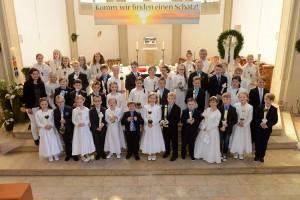 Kommuniongruppe in Mesum am 10. Mai 2015