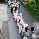 Fronleichnamsprozession 2015 in Mesum - die Prozession