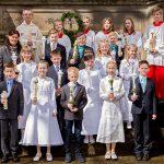 Die Kommunionkinder aus der Gemeindekirche St. Ludgerus Elte 2016