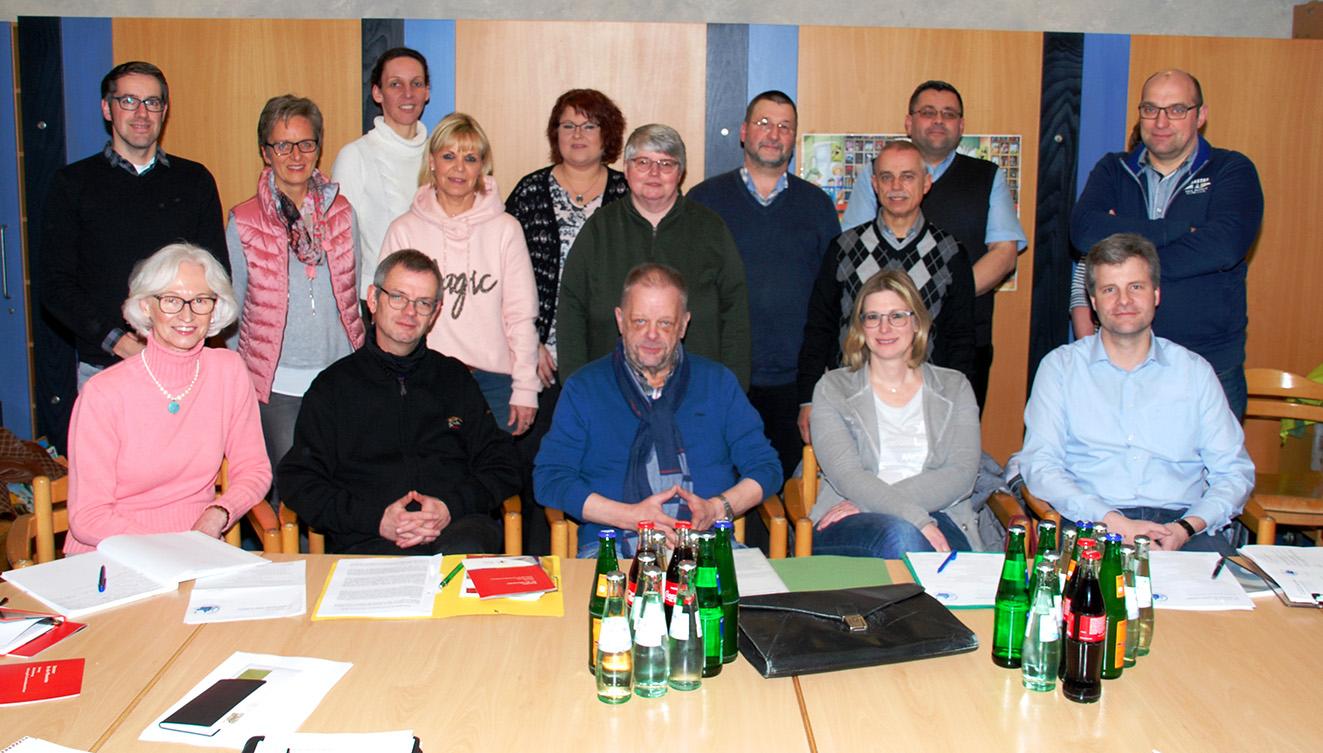 Der Pfarreirat (einige Mitglieder fehlen) mit dem neuen Vorstand