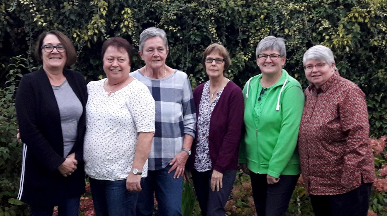 Von links nach rechts: Susi Storm, Elisabeth Weinhold, Anne Hagemeyer, Maria Roeder, Christel Brinker, Irene Kaiser (PR)