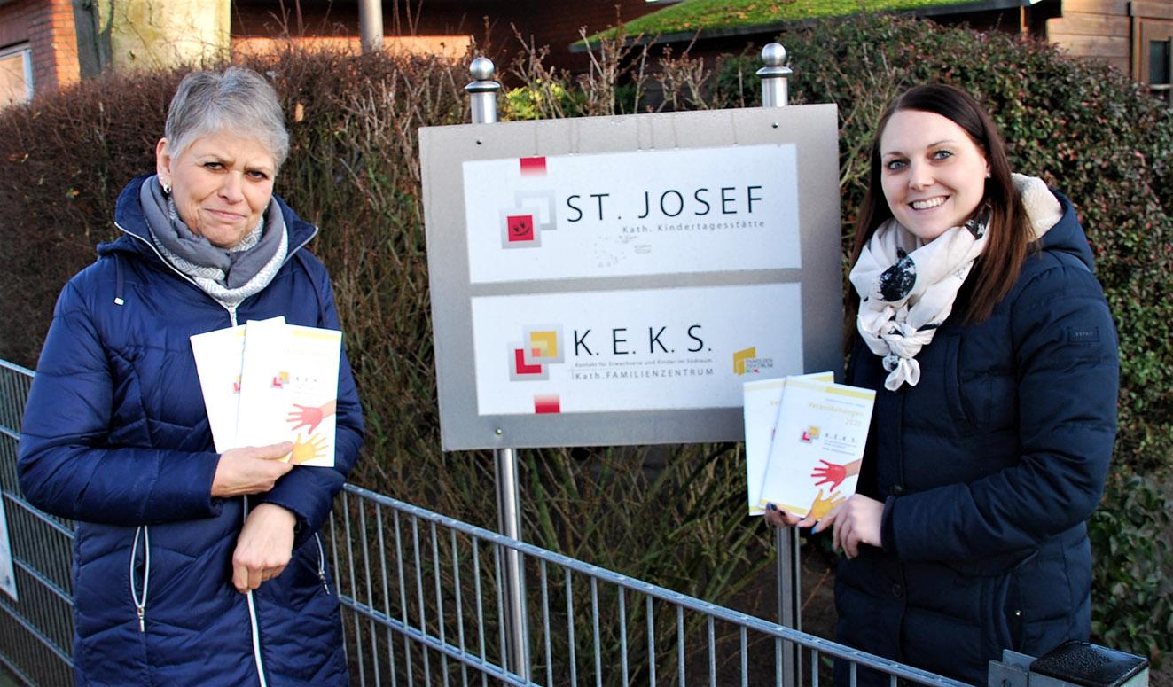 Magdalene Strotmann (l.) und Sabrina Ernsting stellen das neue KEKS-Programm für 2020 vor