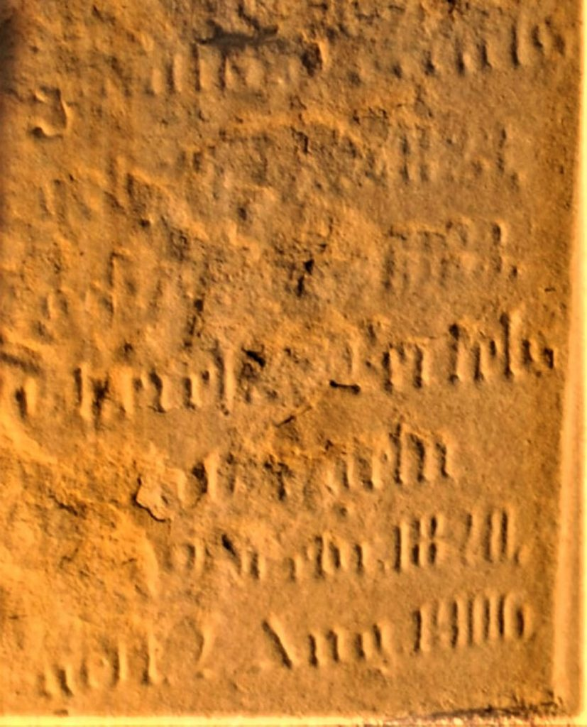 """Nach der Bearbeitung lassen sich Fragmente wie """"Bertels"""" deutlich erkennen"""